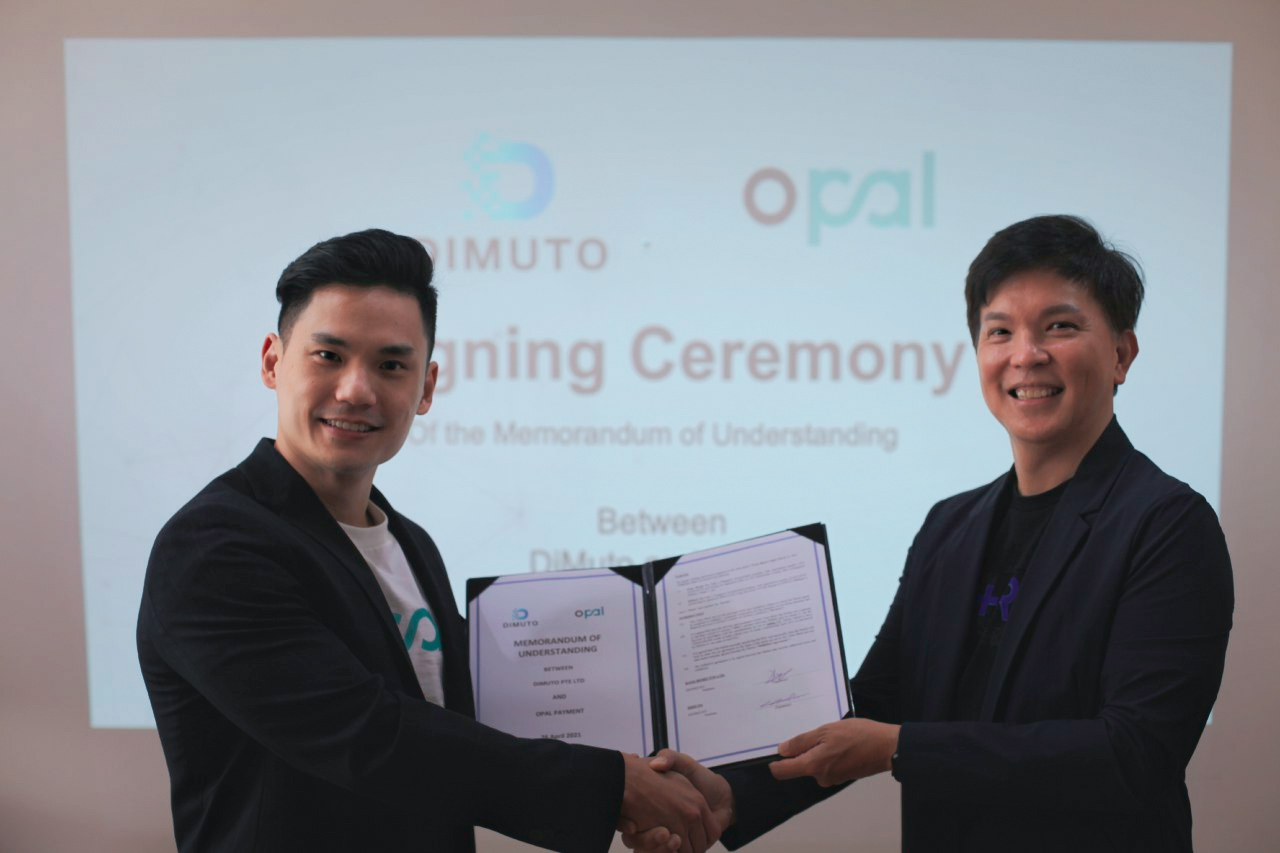 MoU signing between OPAL COO and DiMuto CEO
